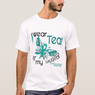 I Wear Teal For My Daughter 45 Ovarian Cancer T-Shirt
