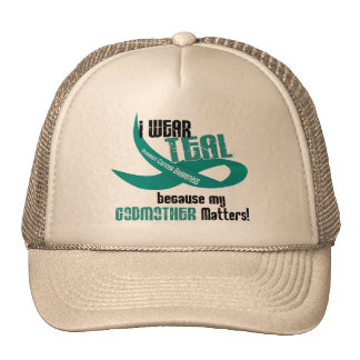 I Wear Teal For My Godmother 33 T-Shirts & Gifts Trucker Hat