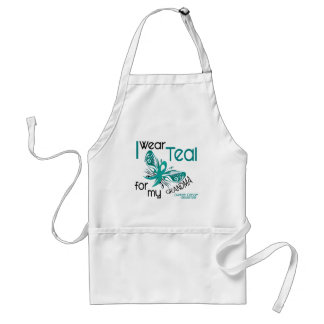 I Wear Teal For My Grandma 45 Ovarian Cancer Standard Apron