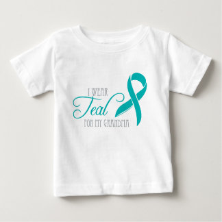 I Wear Teal for My Grandma Baby T-Shirt