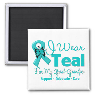 I Wear Teal For My Great-Grandpa Square Magnet