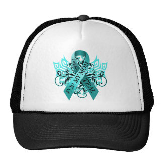 I Wear Teal for my Mom.png Cap