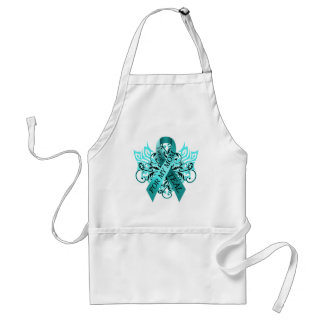 I Wear Teal for my Mom.png Standard Apron