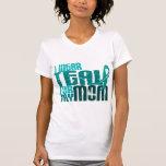 I Wear Teal For My Mum 6.4 Ovarian Cancer T-shirts