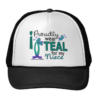I Wear Teal For My Niece 27 Ovarian Cancer Mesh Hats