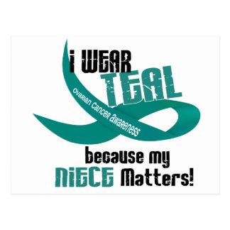 I Wear Teal For My Niece 33 OVARIAN CANCER Tees Postcard