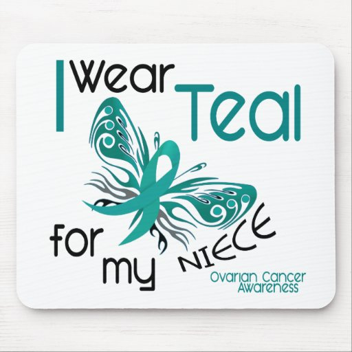 I Wear Teal For My Niece 45 Ovarian Cancer Mousepads