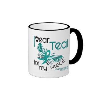 I Wear Teal For My Niece 45 Ovarian Cancer Coffee Mug