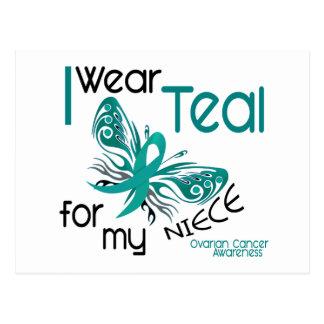 I Wear Teal For My Niece 45 Ovarian Cancer Postcard