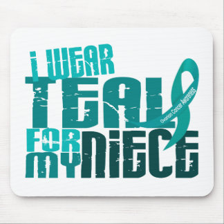 I Wear Teal For My Niece 6 4 Ovarian Cancer Mouse Pads