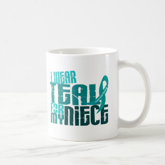 I Wear Teal For My Niece 6.4 Ovarian Cancer Mugs