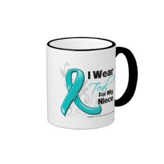 I Wear Teal For My Niece  - Ovarian Cancer Coffee Mug