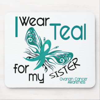I Wear Teal For My Sister 45 Ovarian Cancer Mouse Mat