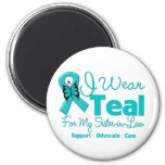 I Wear Teal For My Sister-in-Law 6 Cm Round Magnet