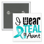 I Wear Teal Ribbon For My Aunt Button