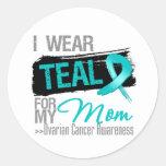 I Wear Teal Ribbon For My Mum Ovarian Cancer