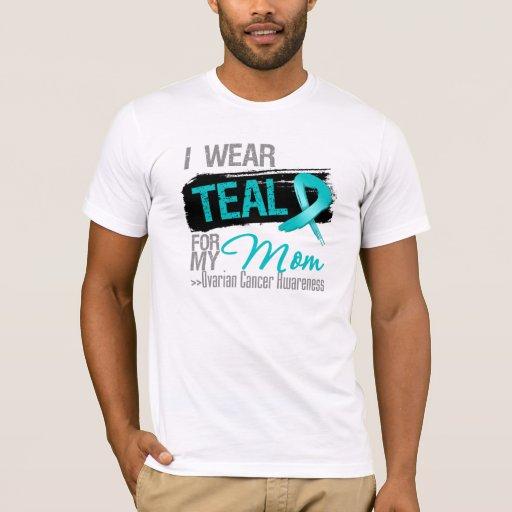 I Wear Teal Ribbon For My Mum Ovarian Cancer T-Shirt