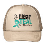 I Wear Teal Ribbon For The Cure Cap