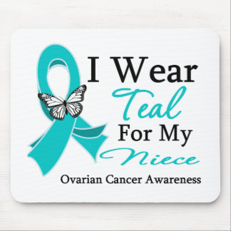 I Wear Teal Ribbon Niece Ovarian Cancer Mouse Pads