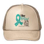 I Wear Teal Ribbon Ovarian Cancer Best Friend