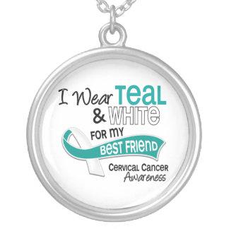 I Wear Teal White 42 Best Friend Cervical Cancer Pendants