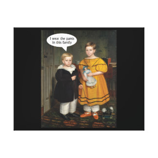 I wear the Pants - Funny Gay Couple Canvas Print