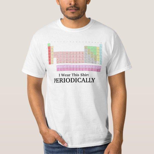 I Wear This Shirt Periodically Funny Tshirt