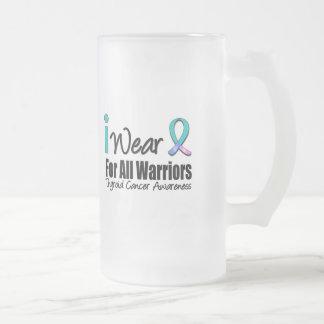 I Wear Thyroid Cancer Ribbon For All Warriors Coffee Mug