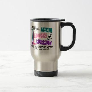 I Wear Thyroid Cancer Ribbon For Granddaughter 37 Stainless Steel Travel Mug