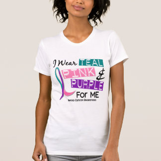 I Wear Thyroid Cancer Ribbon For Me 37 T-Shirt