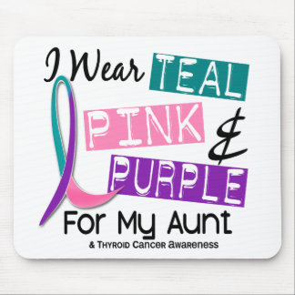 I Wear Thyroid Cancer Ribbon For My Aunt 37 Mouse Pads