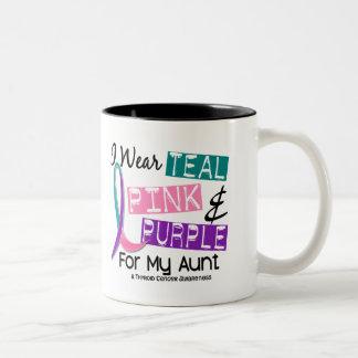 I Wear Thyroid Cancer Ribbon For My Aunt 37 Mugs