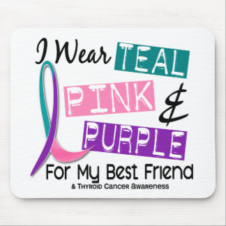 I Wear Thyroid Cancer Ribbon For My Best Friend 37 Mouse Pads