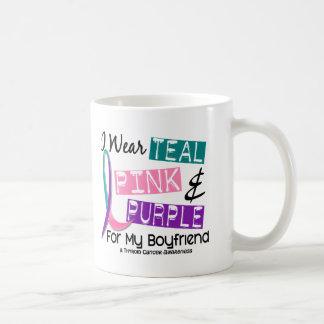 I Wear Thyroid Cancer Ribbon For My Boyfriend 37 Coffee Mug