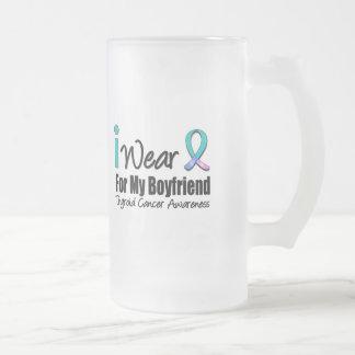 I Wear Thyroid Cancer Ribbon For My Boyfriend Coffee Mugs