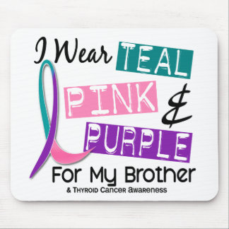 I Wear Thyroid Cancer Ribbon For My Brother 37 Mouse Pads