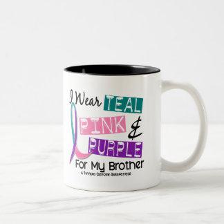 I Wear Thyroid Cancer Ribbon For My Brother 37 Coffee Mug