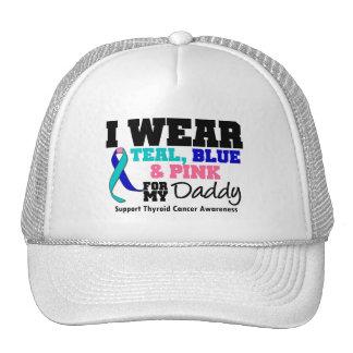 I Wear Thyroid Cancer Ribbon For My Daddy Mesh Hats