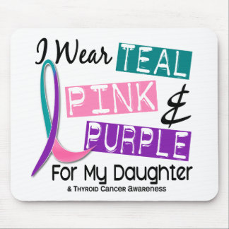 I Wear Thyroid Cancer Ribbon For My Daughter 37 Mouse Pad