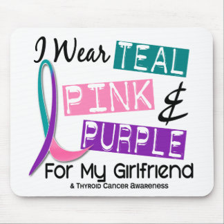 I Wear Thyroid Cancer Ribbon For My Girlfriend 37 Mouse Pads