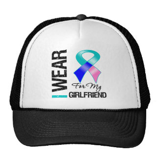 I Wear Thyroid Cancer Ribbon For My Girlfriend Mesh Hat