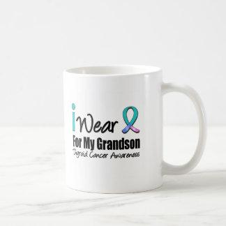I Wear Thyroid Cancer Ribbon For My Grandson Mugs