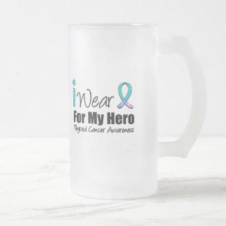 I Wear Thyroid Cancer Ribbon For My Hero Mugs