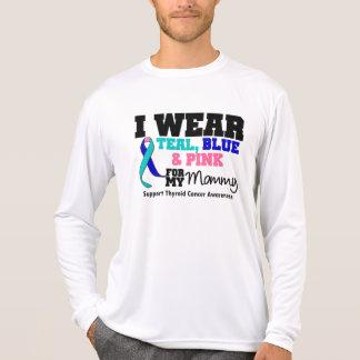 I Wear Thyroid Cancer Ribbon For My Mommy Tee Shirts