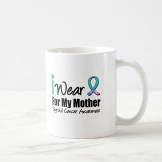 I Wear Thyroid Cancer Ribbon For My Mother Basic White Mug