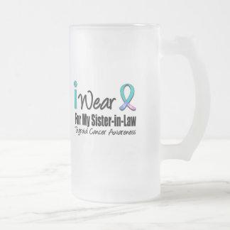 I Wear Thyroid Cancer Ribbon For My Sister-in-Law Coffee Mug
