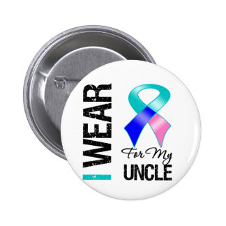I Wear Thyroid Cancer Ribbon For My Uncle Buttons