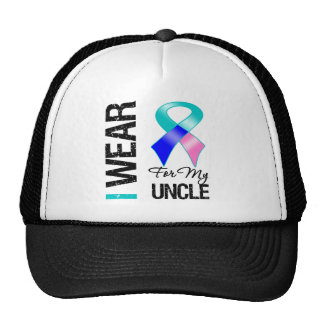 I Wear Thyroid Cancer Ribbon For My Uncle Mesh Hat