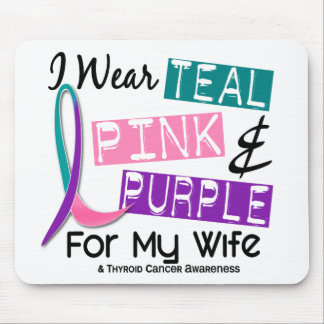 I Wear Thyroid Cancer Ribbon For My Wife 37 Mouse Pad