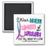 I Wear Thyroid Cancer Ribbon For Sister-In-Law 37